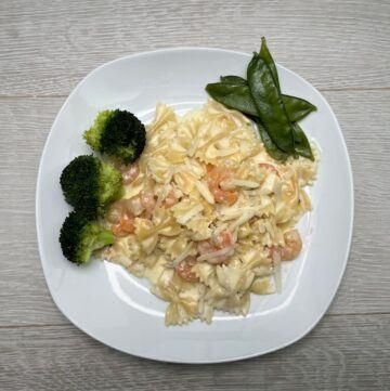 Instant pot shrimp alfredo