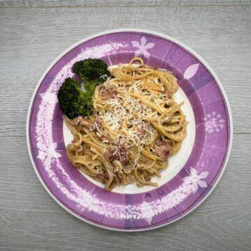 Instant pot spaghetti carbonara