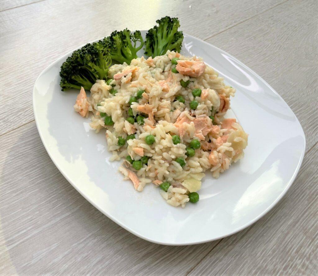 Instant pot salmon risotto