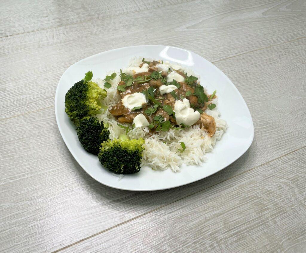 Instant pot baharat spiced chicken