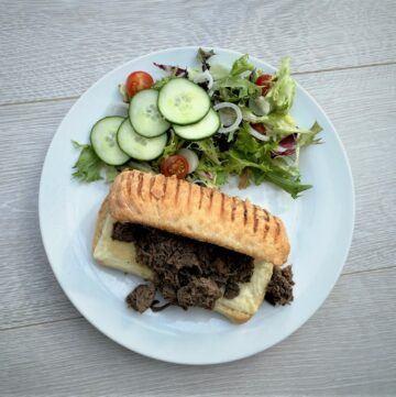Instant Pot Italian Beef Sandwich